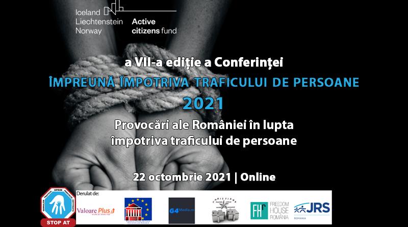 """22.10.2021 – Conferință """"Împreună împotriva traficului de persoane"""""""